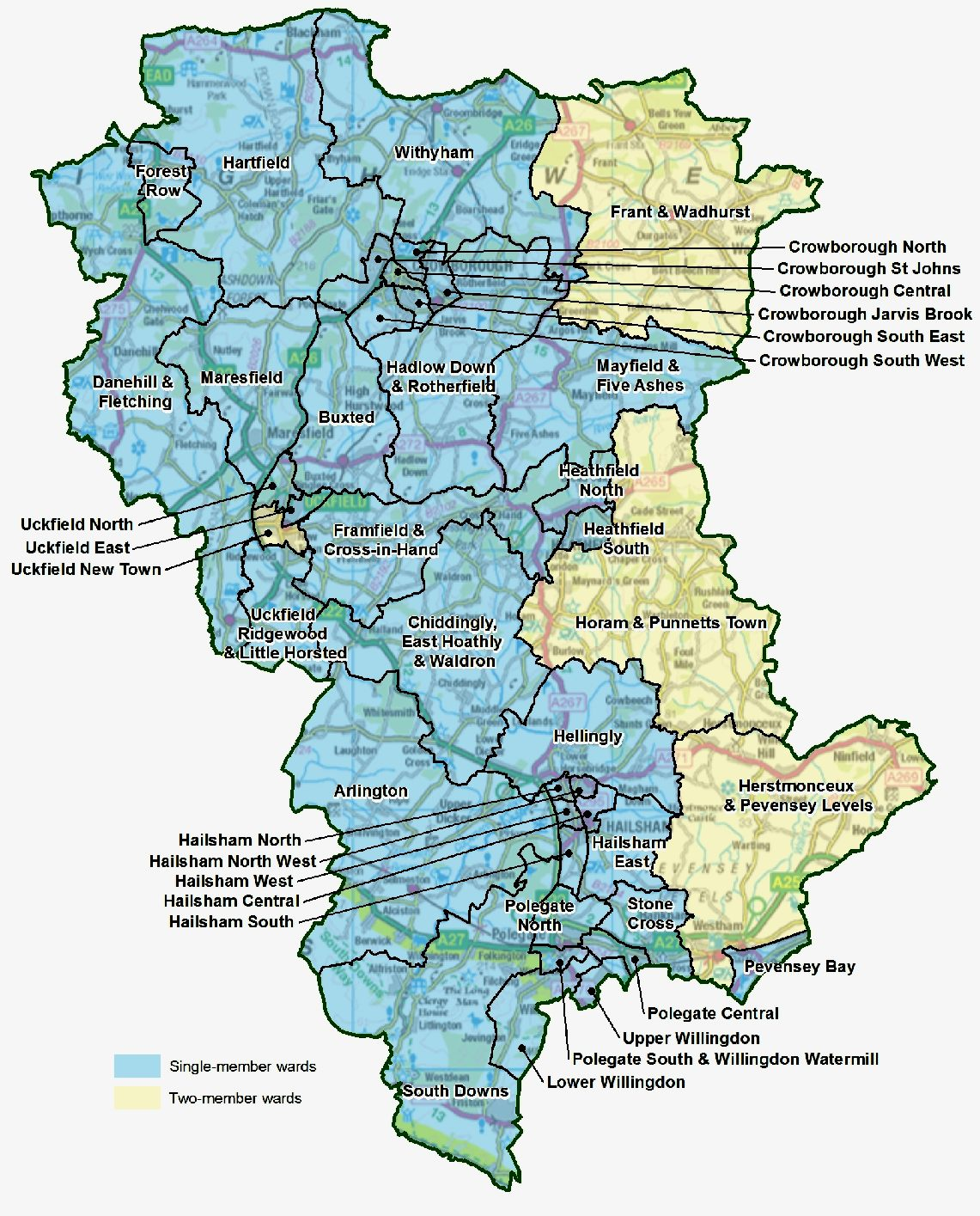 Map of the Wealden district as divided for effective representation of the people